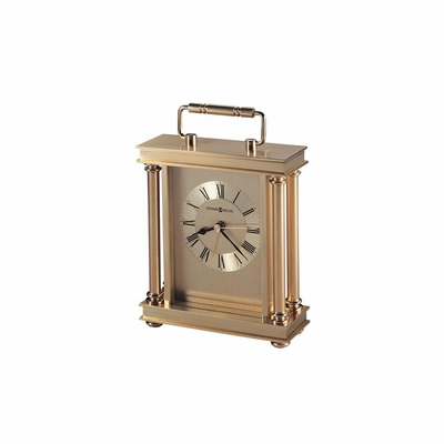 Audra Brass Table Clock in Brass - Howard Miller