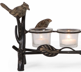 Audubon Park Votive Holder with Glass Votives - IMAX - 12360