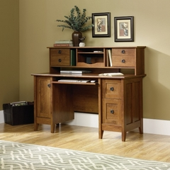 August Hill Comp Desk with Hutch Oiled Oak - Sauder Furniture - 409688