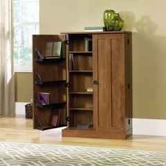 August Hill Multimedia Storage Cabinet Oiled Oak - Sauder Furniture - 409550
