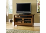 August Hill Panel TV Stand Oiled Oak - Sauder Furniture - 409636