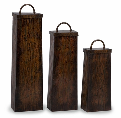 Austin Lidded Boxes (Set of 3) - IMAX - 12354-3