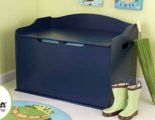 Austin Toy Box in Blueberry - KidKraft Furniture - 14959