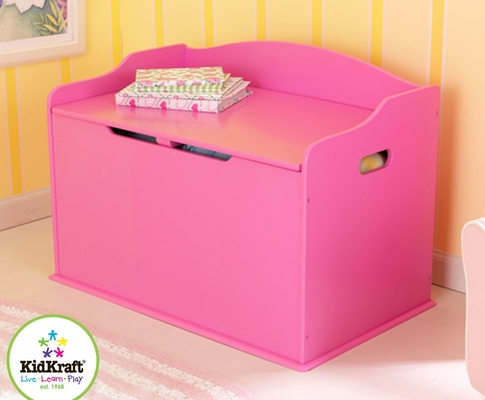 Austin Toy Box in Bubblegum - KidKraft Furniture - 14960