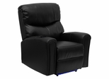 Automatic Massaging Black Leather Recliner with Lighted Base - BT-7865-AUTO-BK-GG