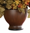 Autumn Hydrangea with Round Vase - Nearly Natural - 4680