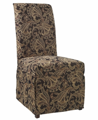 Autumn Tone Paisley Tapestry Skirted