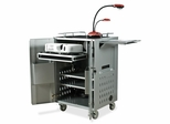 AV Folding Locking Cart - Gray - BLT27513