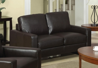 Ava Contemporary Leather Loveseat - 504482