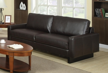 Ava Contemporary Leather Sofa - 504481