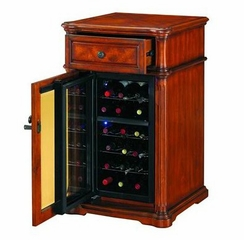 Avalon Wine Cabinet in Premium Pecan Cherry - Classic Flame - DC1170C253-1827