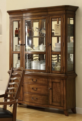 Avery China Cabinet in Brown Oak - 103544