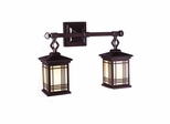 Avery Lantern 2-Light Wall Sconce - Dale Tiffany