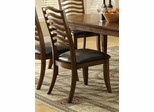 Avery Wavy Slat Back Side Chair with Vinyl Seat - Set of 2 - 103542