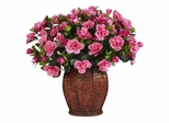 Azalea with Vase Silk Plant - Nearly Natural - 6653