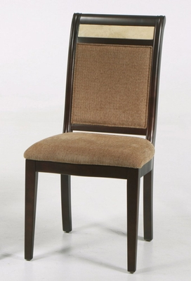 B385 Side Chair (Set of 2) in Beige Chenille with Marble Inlay - Armen Living - LCB385SIES-SET