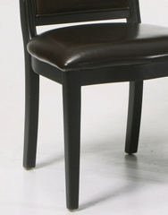 B385 Side Chair (Set of 2) in Brown Leather with Marble Inlay - Armen Living - LCB385SIBC-SET