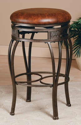 Backless Bar Stool - Montello Swivel Bar Stool - 4361-831