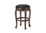 "Backless Fleur de Lis Wood Swivel Counter Stool - 30""(H) - Hillsdale - 62994"