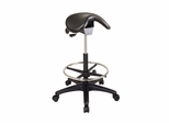 Backless Stool with Saddle Seat - Office Star - ST205