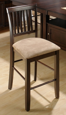 Bakery's Cherry Slat Back Counter Height Stool - Set of 2 - 373-BS711KD
