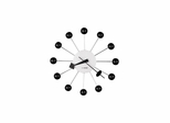 Ball Wall Clock in Black and Nickel - Howard Miller
