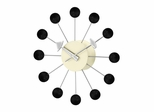 Ball Wall Clock in Black - G81015BL