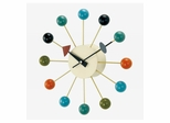 Ball Wall Clock in Multicolor - G81015CL