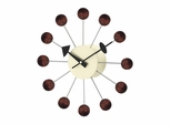 Ball Wall Clock in Walnut - G81015Walnut