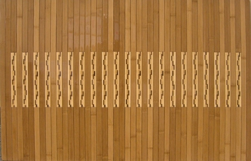 Bamboo Mat - 2' x 3' High Gloss Inlaid Bamboo Kitchen and Bath Mat in Natural - AMB0090-0023