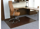 Bamboo Roll-Up Office Chair Mat in Dark Cherry - AMB24002