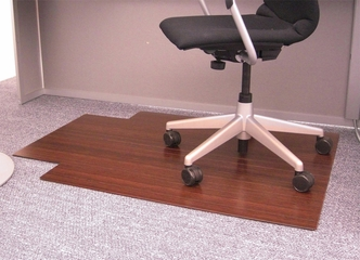 Bamboo Roll-Up Office Chair Mat in Dark Cherry - AMB24004