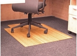 Bamboo Roll-Up Office Chair Mat in Natural - AMB24003