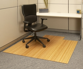 Bamboo Roll-Up Office Chair Mat in Natural - AMB24008