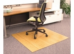 Bamboo Roll-Up Office Chair Mat in Natural - AMB24034
