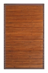 Bamboo Rug - 2' x 3' - Contemporary Chocolate - AMB0031-0023