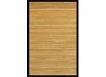 Bamboo Rug - 4' x 6' - Contemporary Natural with Black Border - AMB0036-0046