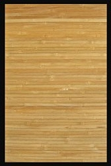 Bamboo Rug - 5' x 8' - Contemporary Natural with Black Border - AMB0036-0058
