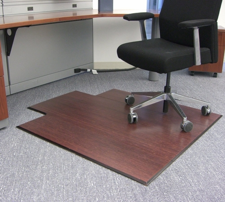 Bamboo Tri-Fold Office Chair Mat in Dark Cherry - AMB0500-1003