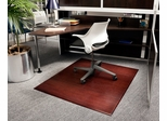 Bamboo Tri-Fold Office Chair Mat in Dark Cherry - AMB0500-1009