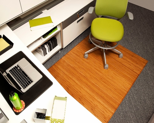 Bamboo Tri-Fold Office Chair Mat in Natural - AMB0500-1008