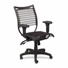 Banded Managerial Mid-back Chair - Black - BLT34421