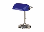 Bankers Lamp - Blue Shade - LEDL557BL