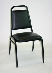 Banquet Chair with Vinyl Padded Seat and Back in Black - ACT101BLACK