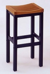 Bar Stool - 29 Inch Bar Stool in Black With Oak Finished Seat - 5644-88