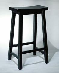 "Bar Stool - ""Antique Black"" with Sand Through Terra Cotta - Powell Furniture - 502-431"