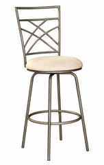 Bar Stool - Antique Gold Accented Pewter - Powell Furniture - 600-432