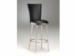 Bar Stool - Bristol Black Vinyl Swivel Bar Stool - 4373-832