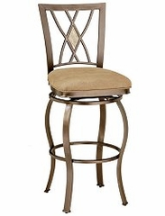 Bar Stool - Brookside Diamond Fossil Back Swivel Bar Stool - Hillsdale Furniture - 4815-831
