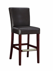 Bar Stool - Brown Bonded Leather - Powell Furniture - 749-847